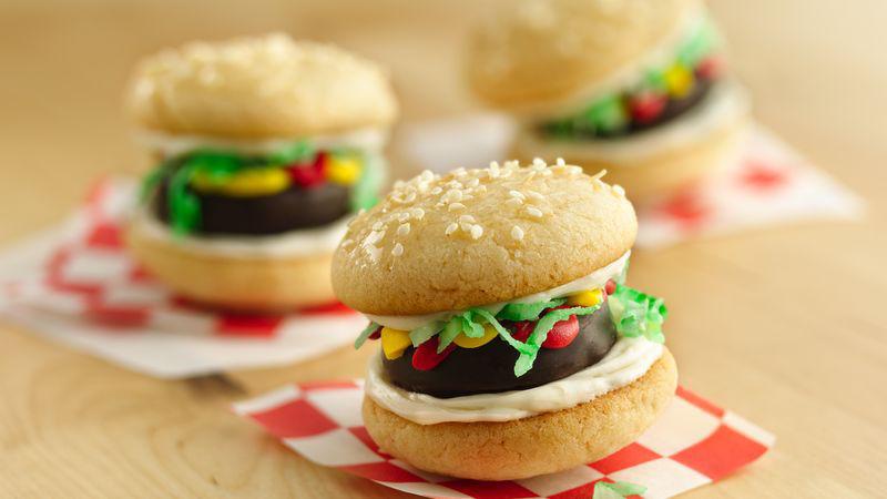 Mini Burger Cookies Recipe