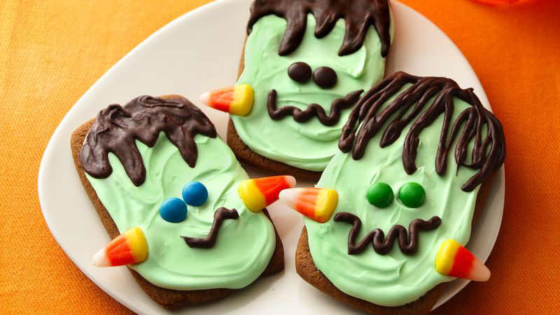 Ginger Frankenstein Cookies Recipe