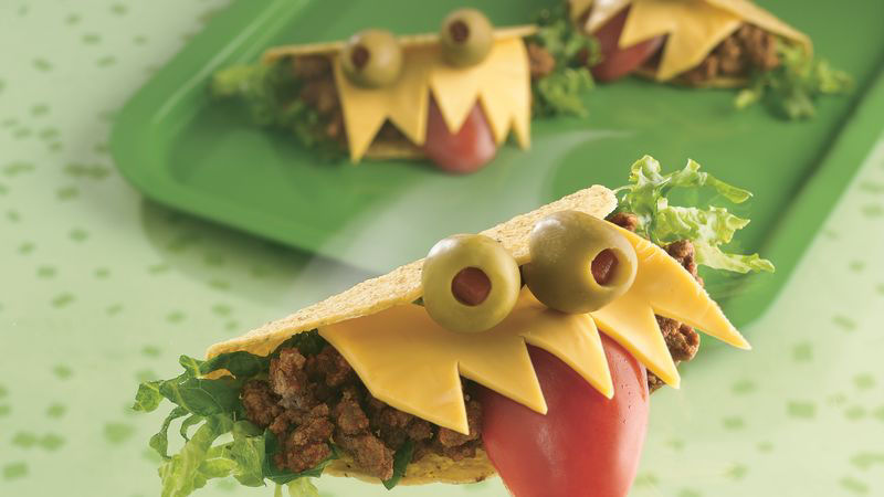 Halloween Monster-Mouth Tacos Recipe