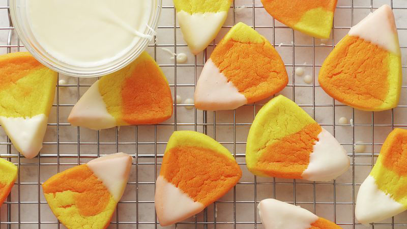 Marbled Candy Corn Cookies Recipe