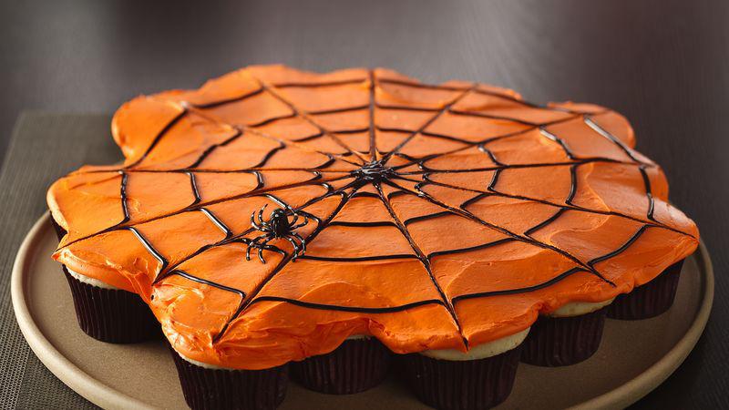 Pull-Apart Spiderweb Cupcakes Recipe
