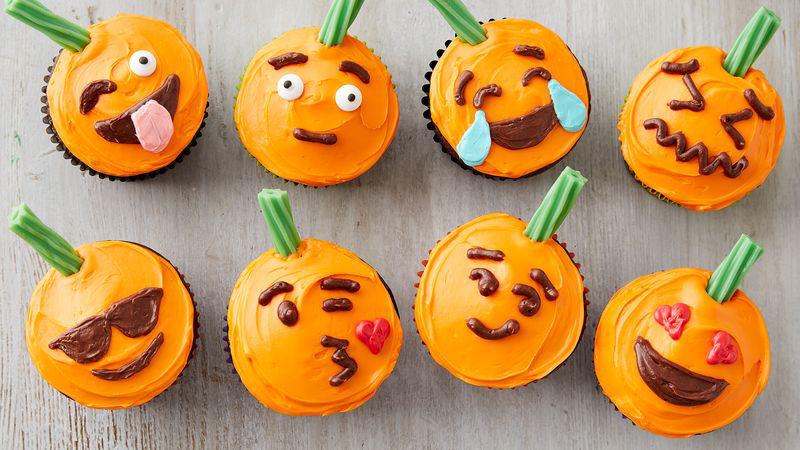 Pumpkin Emoji Cupcakes Recipe