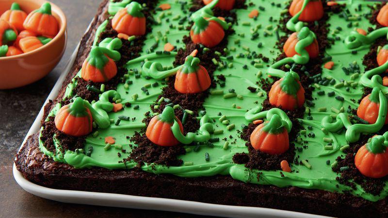 Pumpkin Patch Brownies Recipe