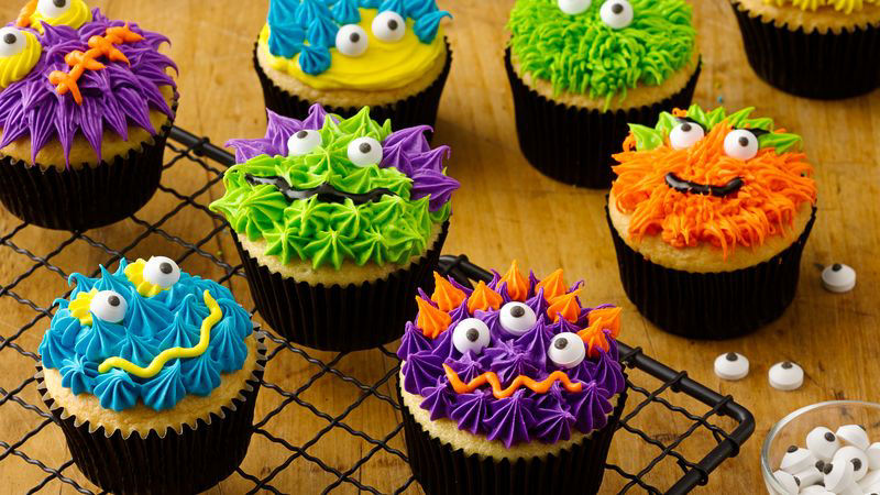 Scary Monster Cupcakes Recipe