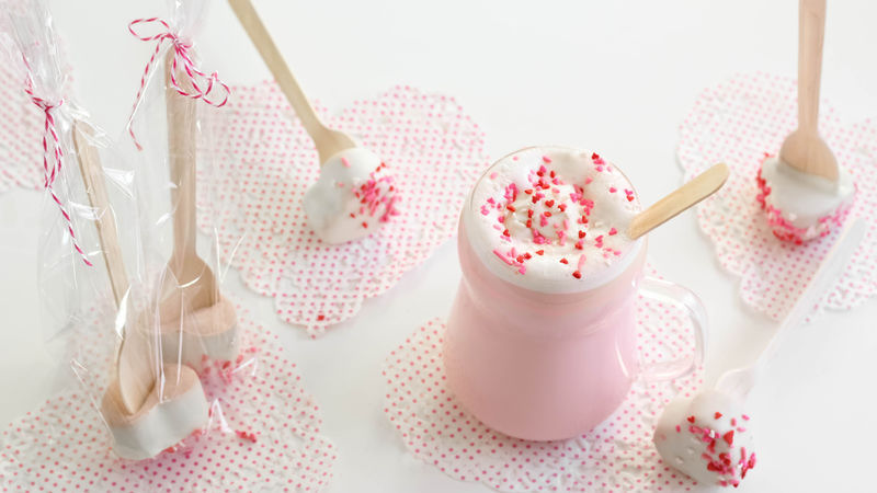 Strawberry Hot Cocoa-on-a-Stick